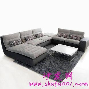 砖色布艺沙发原姿态生活情趣
