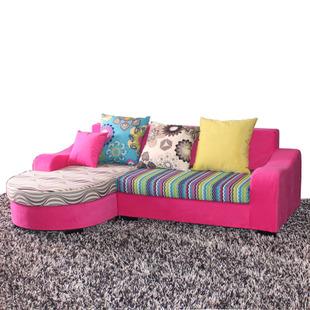 彩色布艺沙发挑选好缔造缤纷家庭