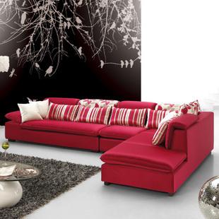 客厅组合彩色布艺沙发选购技巧跟你详细谈谈