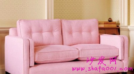 两人布艺沙发浪漫温馨 一起享受幸福的喜悦