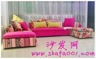 波西米亚风格布艺沙发让你家充满异域风情