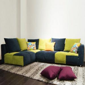 生活需要热情 选择撞色布艺组合沙发