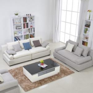 选择彩色布艺组合沙发 丰富美丽人生