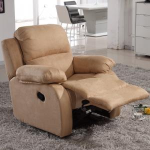 现代懒人的必备之选——旋转式皮质单人沙发