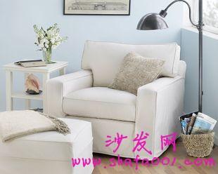 选购简约棉麻单人沙发 追随健康生活