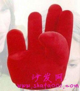 三人双ok手指造型懒人沙发包邮你见过吗