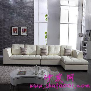 现代简约真皮沙发客厅组合 小户型家庭必选