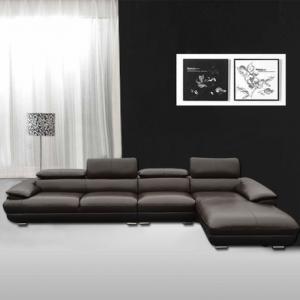 大户型家居现代组合式真皮沙发摆放方法
