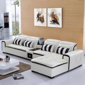 小户型家居之现代组合式真皮沙发摆放方法