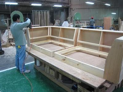 沙发生产制作流程(图)